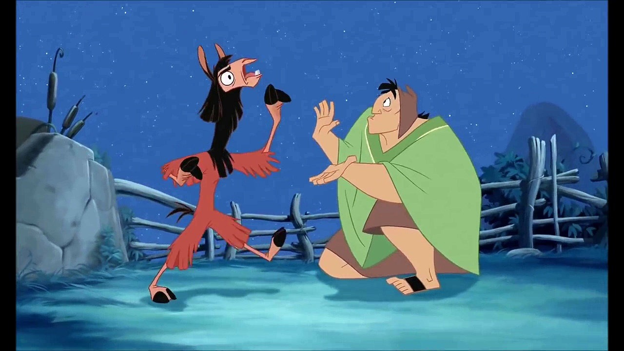 a movie still from The Emperor's New Groove, 2000