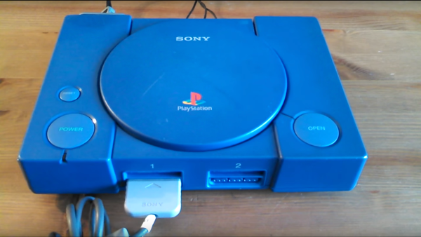 A PlayStation 1 debug kit is pictured.